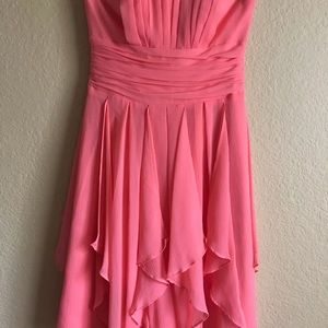 David' bridal strapless fit and flare cutout dress